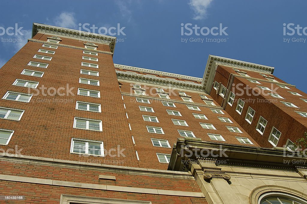 Old Style Office Building from the 1930 and 1940s royalty-free stock photo