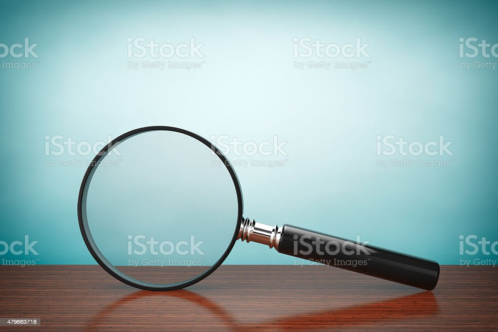 Old Style Photo. Magnifying Glass stock photo