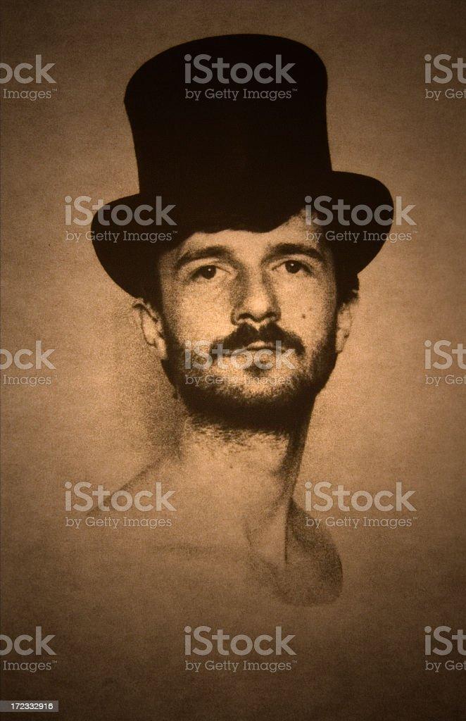 Old style photo portrait royalty-free stock photo