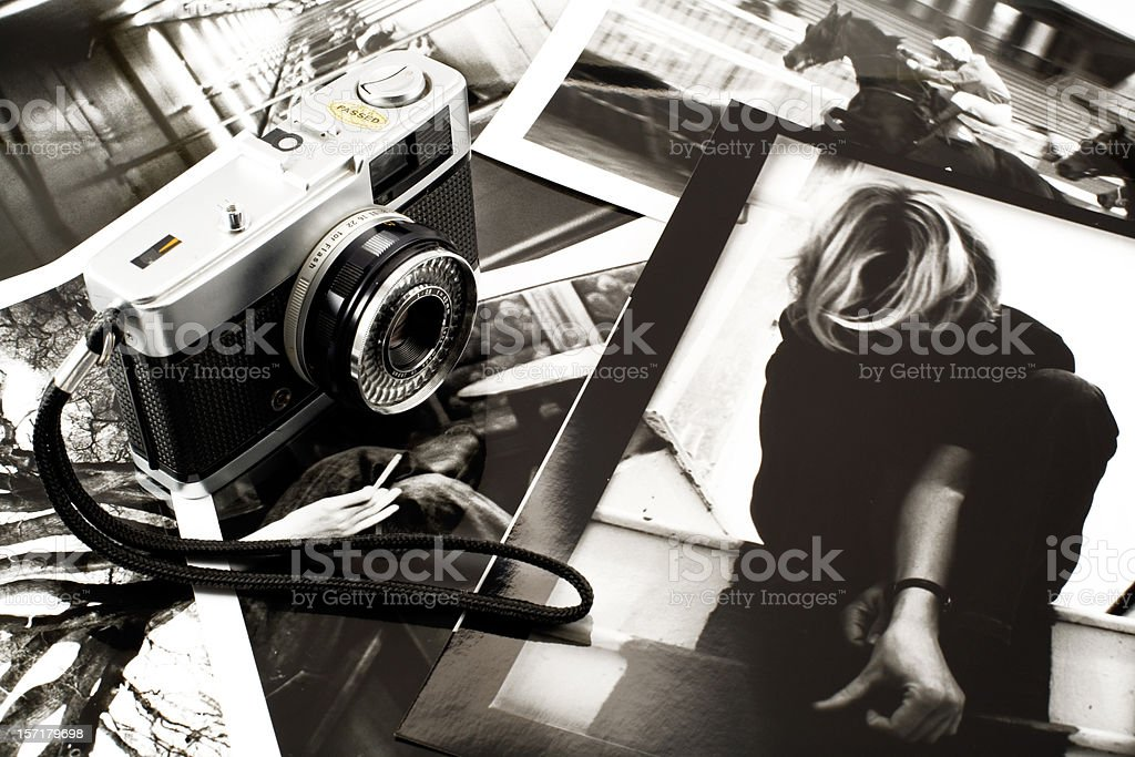 Old style photography stock photo