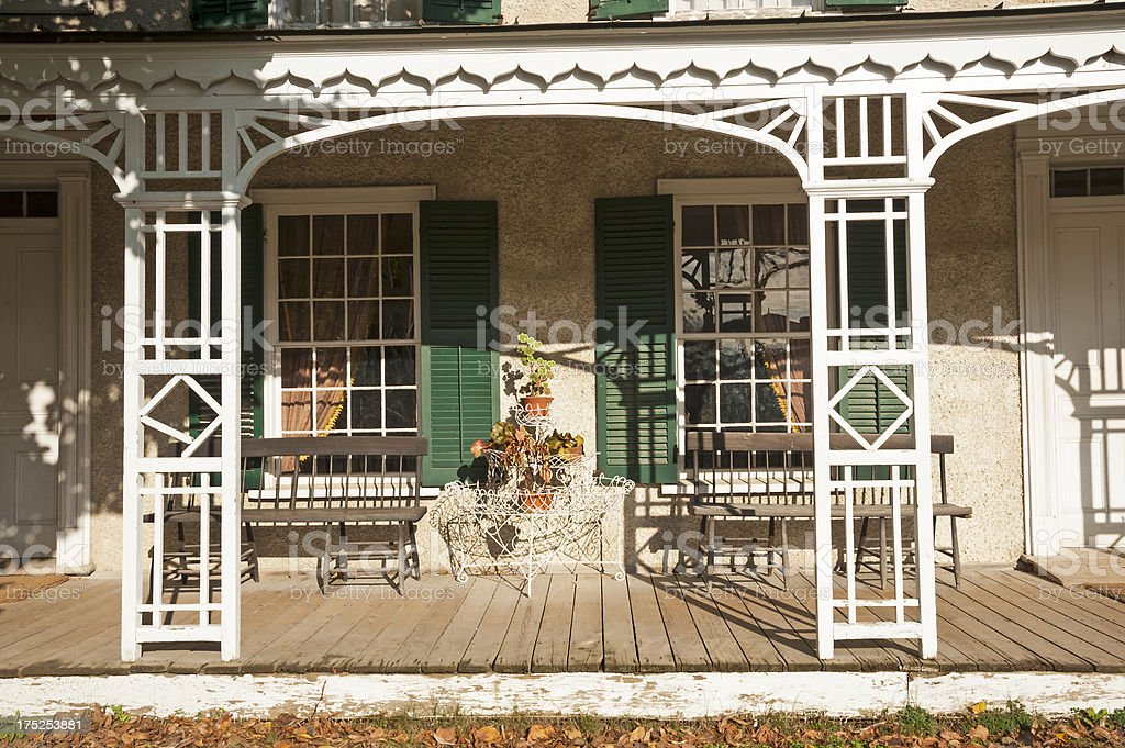 Old Style Porch royalty-free stock photo