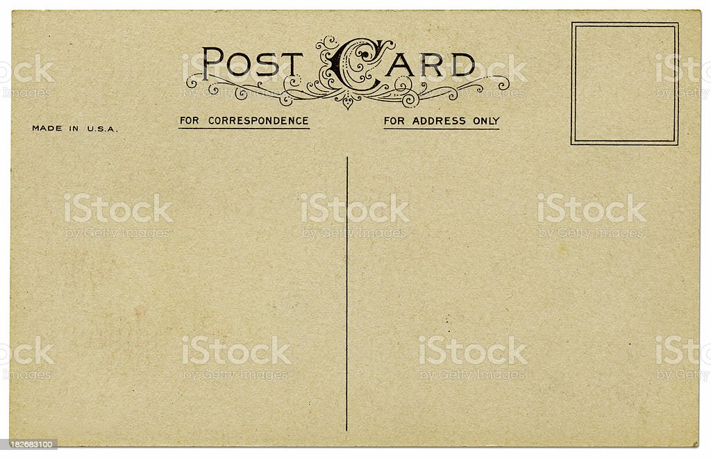 Old Style Post Card royalty-free stock photo