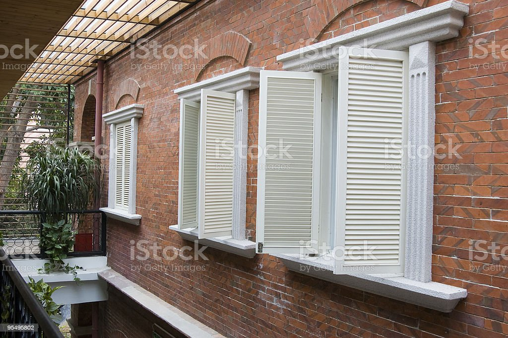 Old style shutters royalty-free stock photo