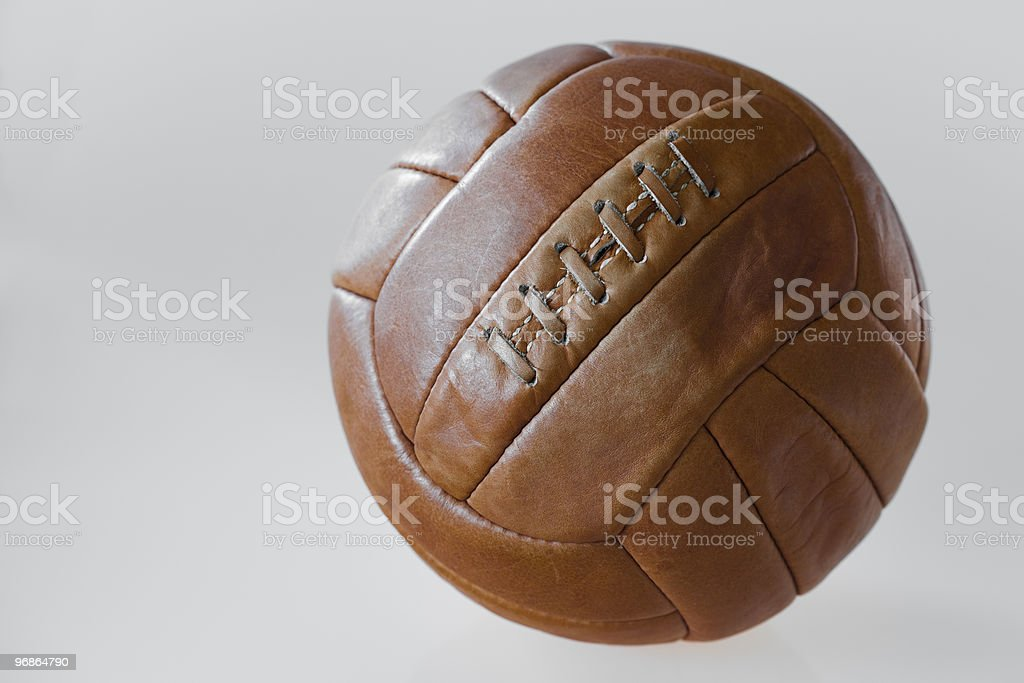 Old style soccer ball stock photo