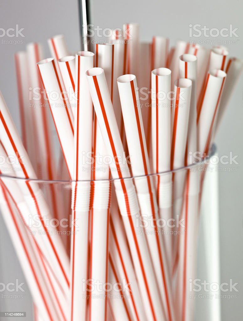 Old Style Straw Dispenser royalty-free stock photo