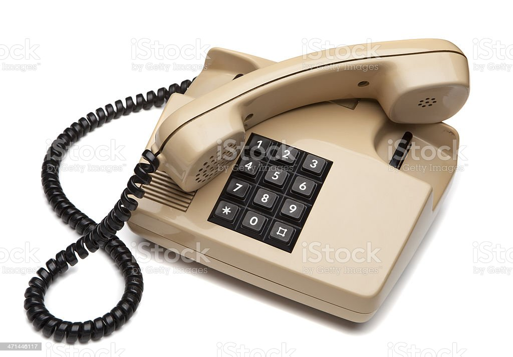 old style telephone off the hook royalty-free stock photo