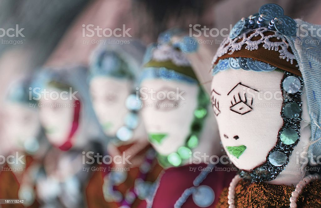 Old style Turkish dolls royalty-free stock photo