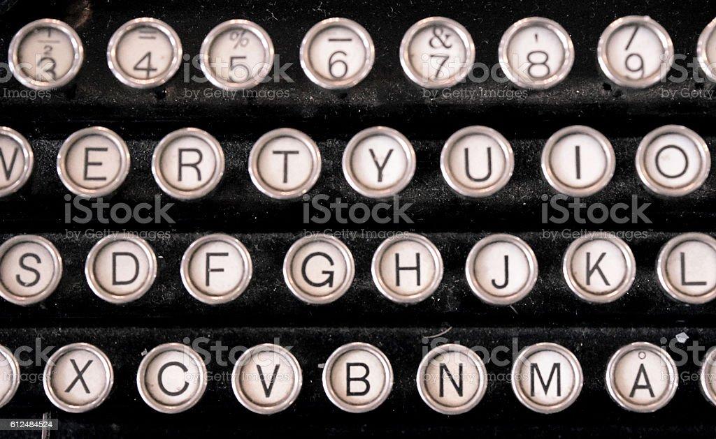 Old style type writing stock photo
