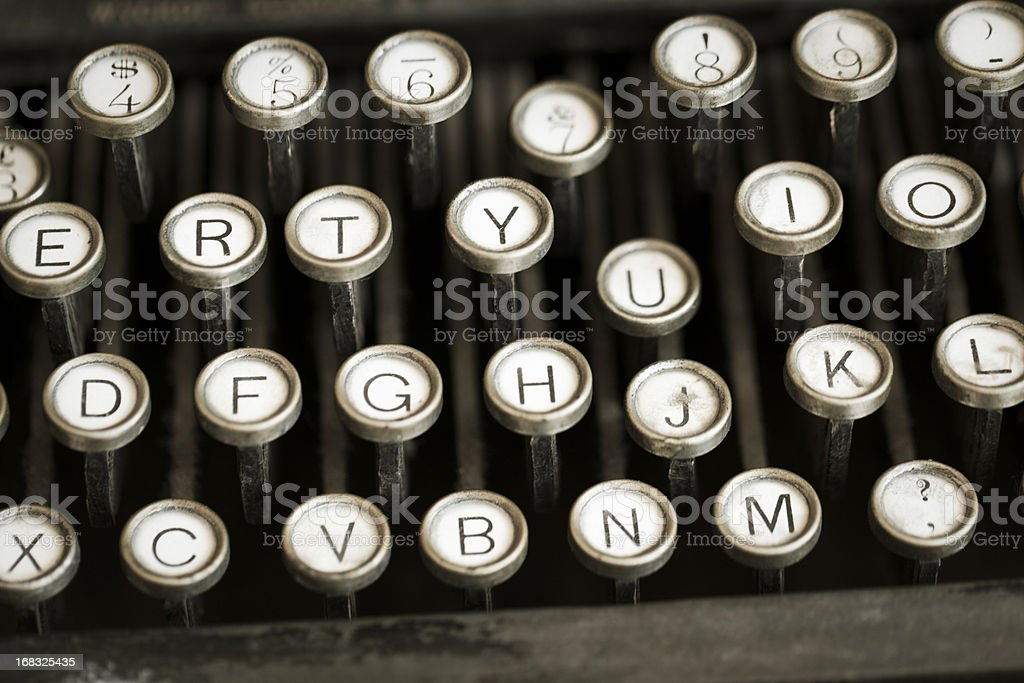 Old style typewriter with shallow depth of field royalty-free stock photo