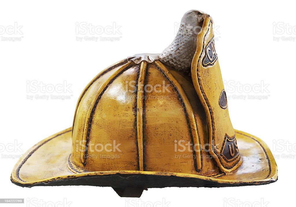 Old style USA firefighter helmet royalty-free stock photo