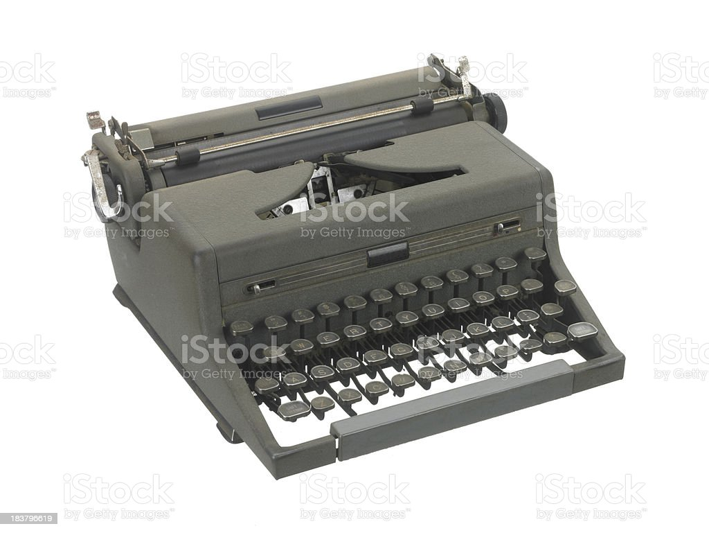 Old style vintage typewriter stock photo