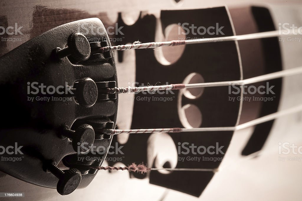 Old style Violin royalty-free stock photo