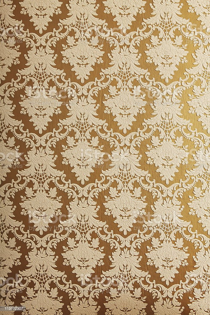 old style wallpaper with structure stock photo