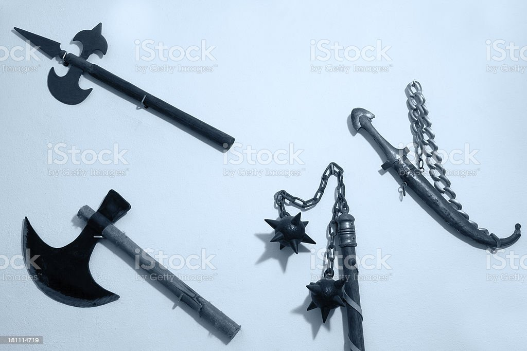 Old style weapons stock photo