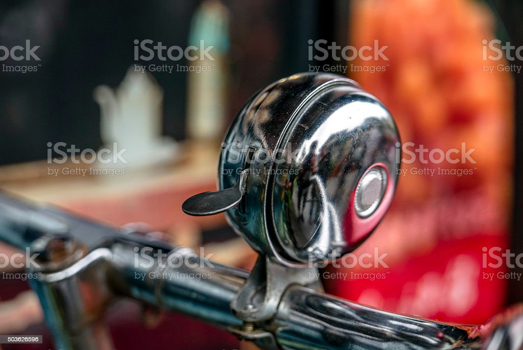 old styled bike bell stock photo
