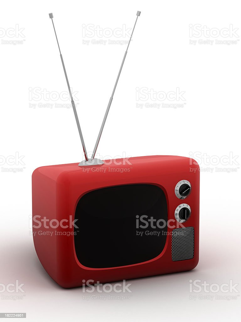 Old Stylish TV stock photo