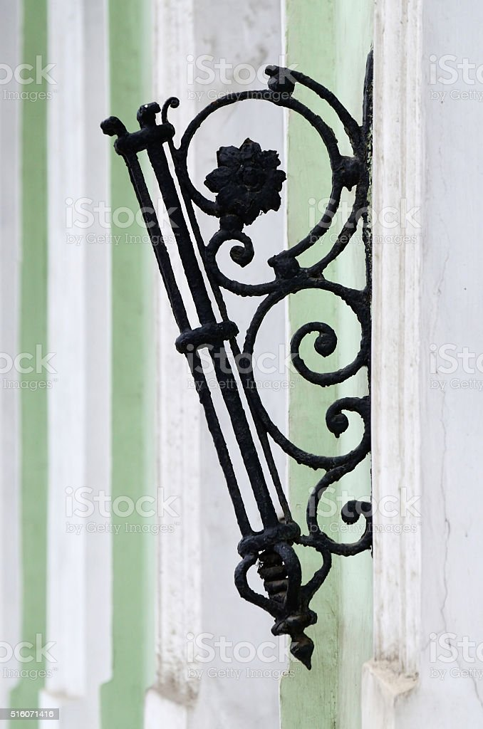 Old stylized flagstaff with floral ornament ,Odessa,Ukraine stock photo