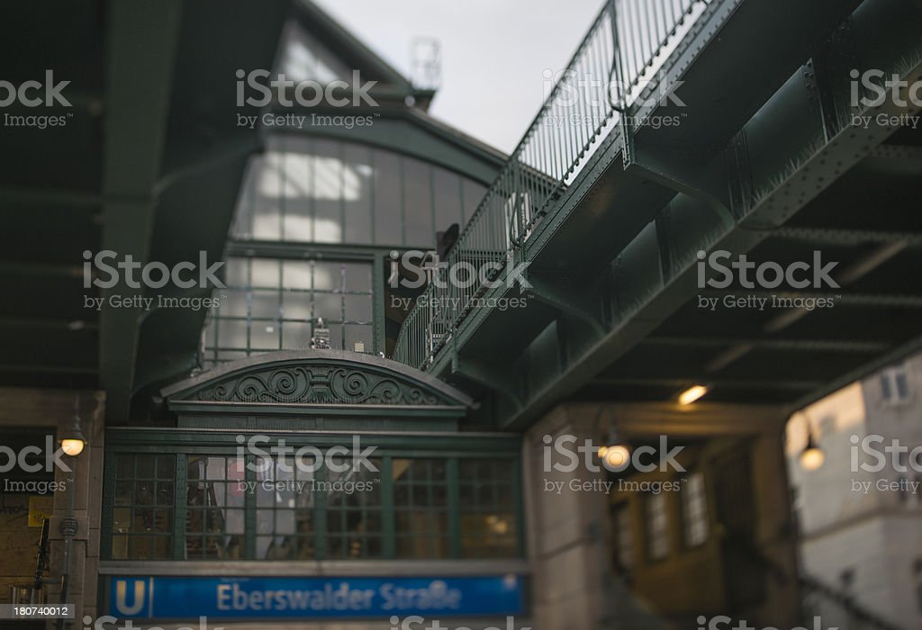 Old subway station Berlin Eberswalder Strasse royalty-free stock photo