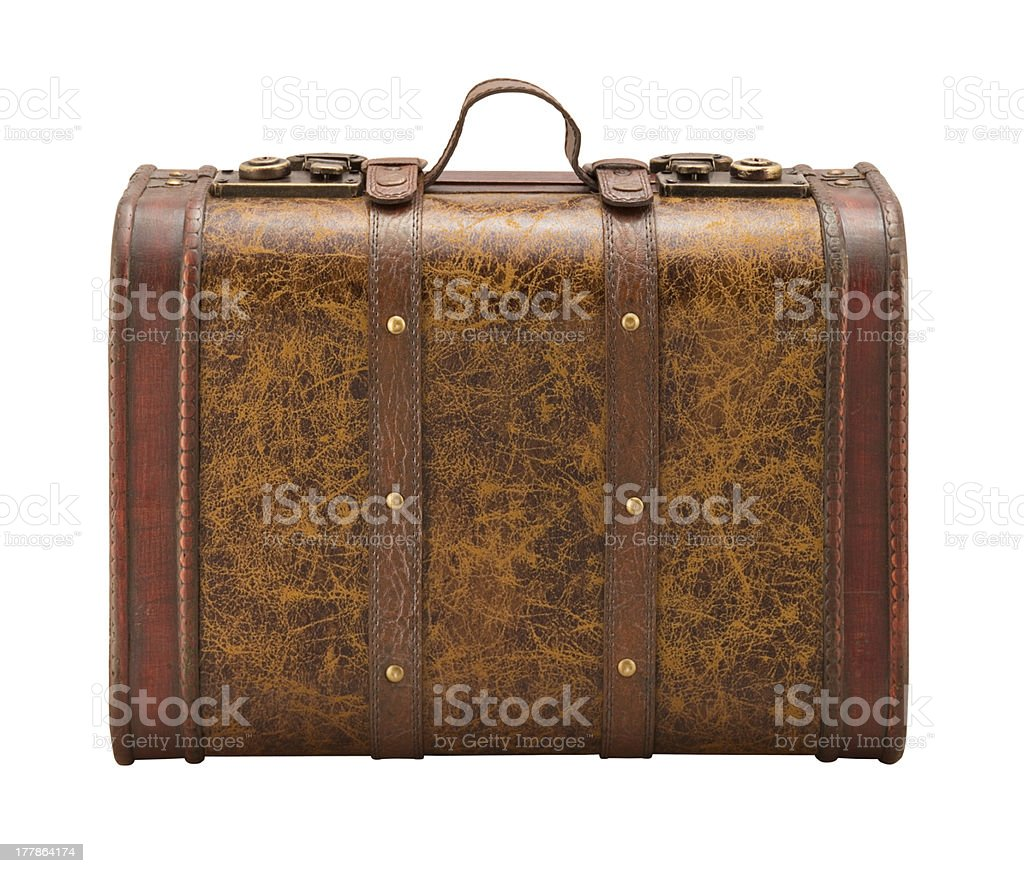 Old Suitcase isolated with a clipping path royalty-free stock photo