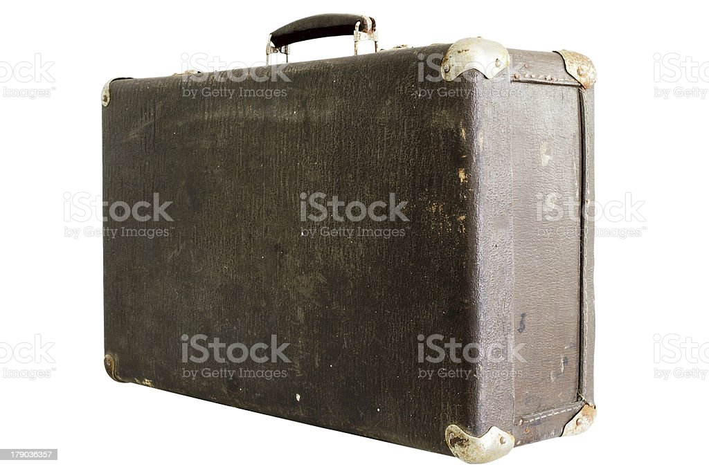 old suitcase on a white background royalty-free stock photo