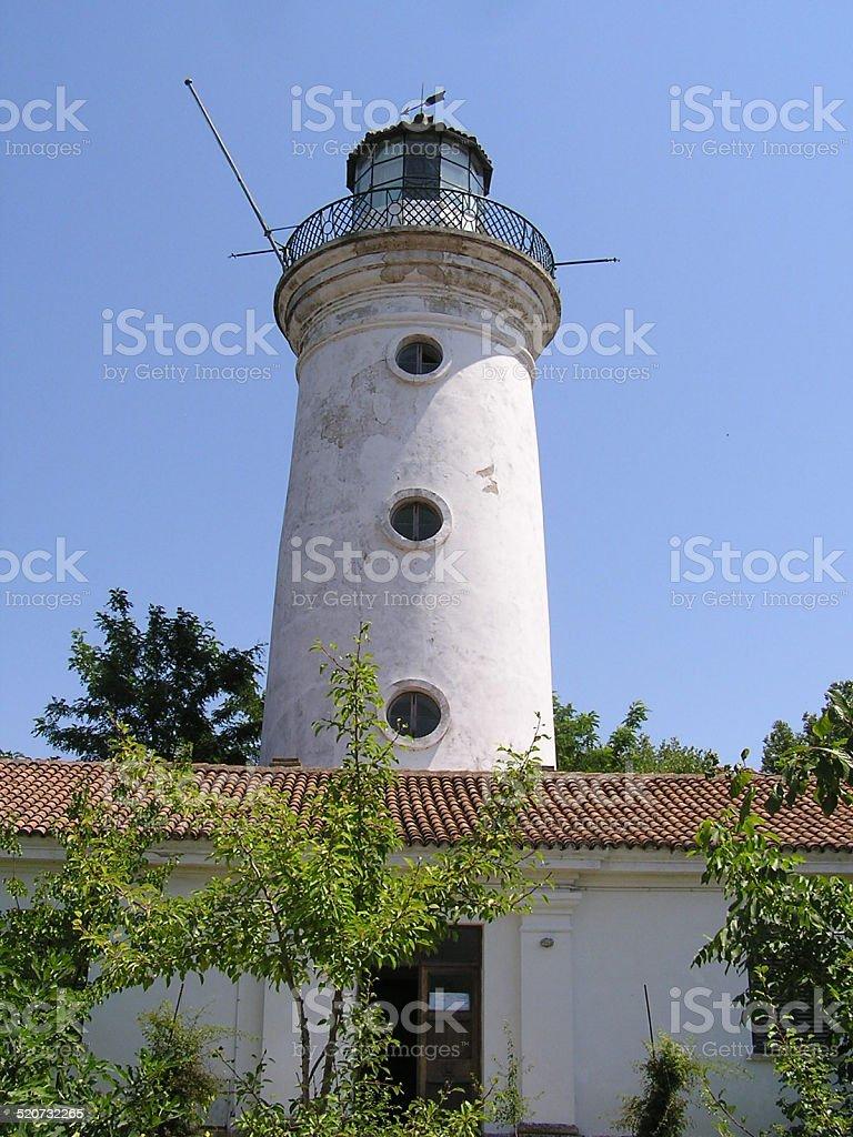 Old Sulina lighthouse stock photo