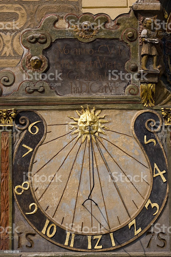 Old sundial royalty-free stock photo