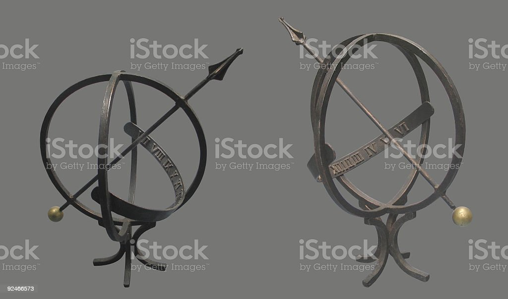 Old Sundial ( Clip Path ) royalty-free stock photo