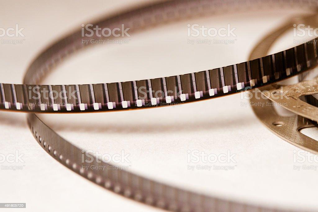 Old Super 8 millimeter film strip cinema stock photo