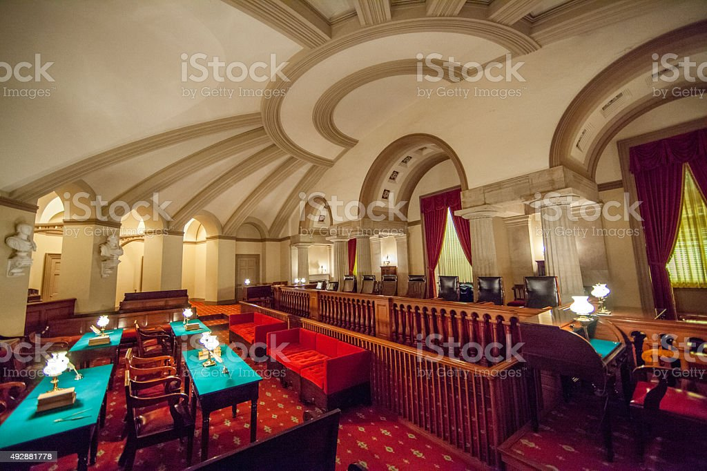 Old Supreme Court Chamber in the U.S. Capitol stock photo
