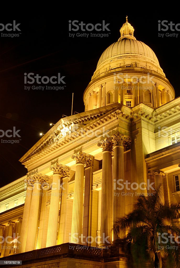 Old Supreme Court of Singapore royalty-free stock photo