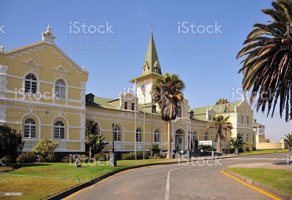 Old Swakopmund Railway Station, Namibia stock photo