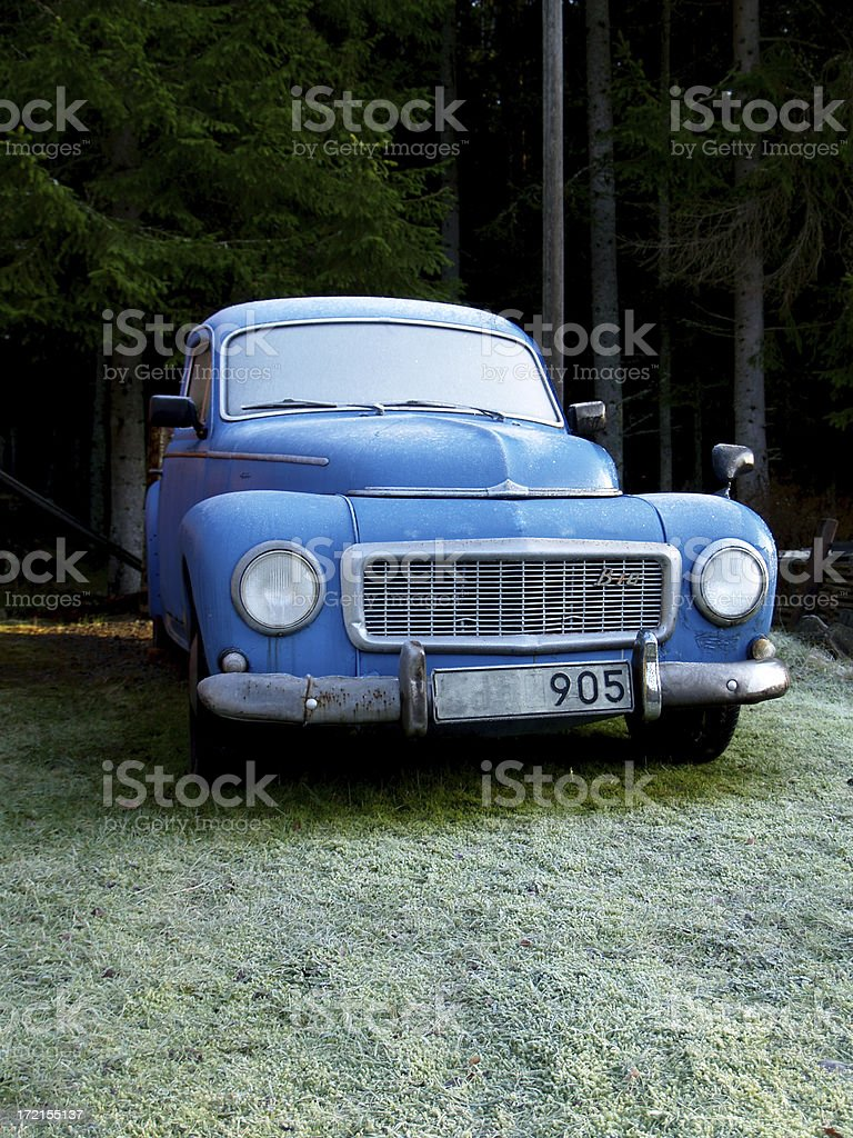 Old Swedish Volvo..... royalty-free stock photo