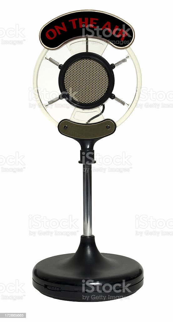 Old Syle Microphone royalty-free stock photo