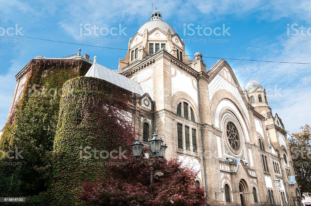 Old synagogue in Novi Sad, Serbia. stock photo