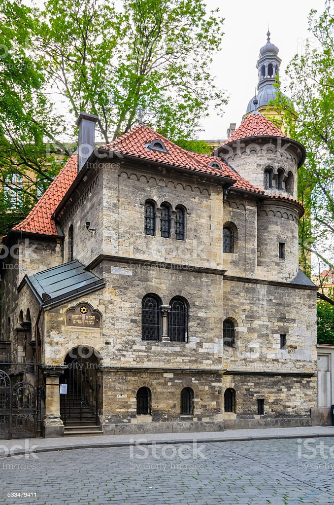 Old Synagogue, Prague stock photo