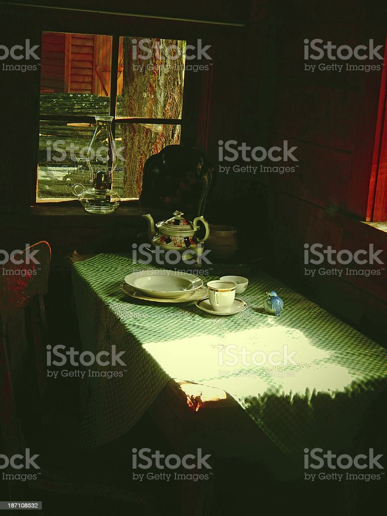 Old Table Setting royalty-free stock photo