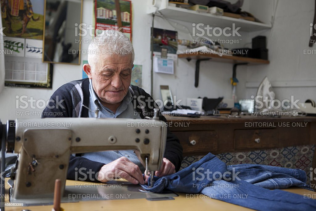old tailor stock photo