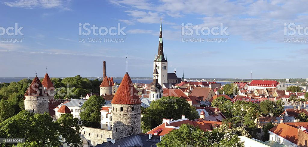 Old Tallinn in summer royalty-free stock photo