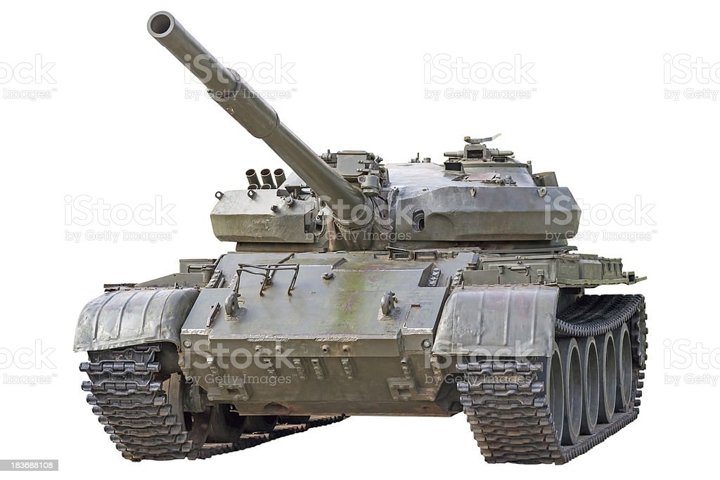 Old tank stock photo