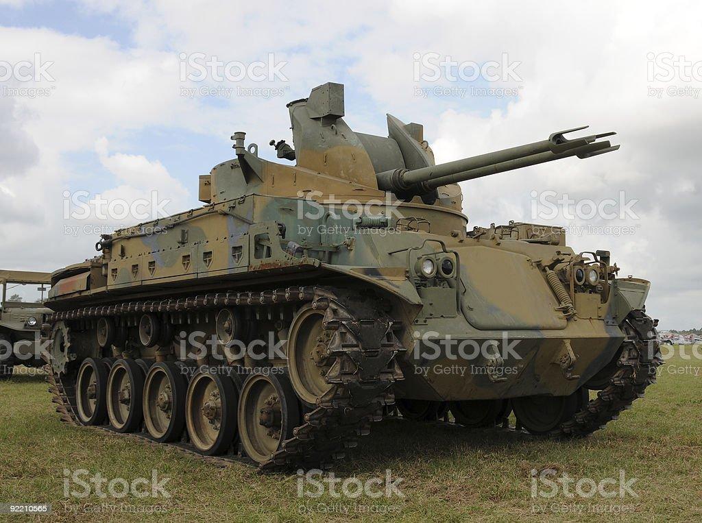 Old tank stock photo
