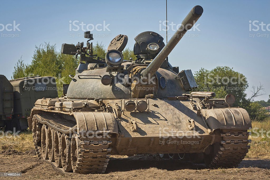Old tank T-55 royalty-free stock photo