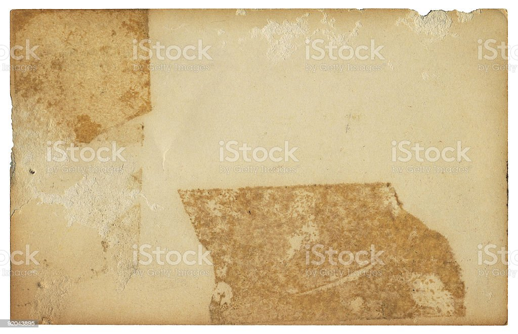 Old Taped Card stock photo
