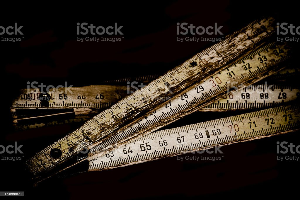 Old tape-measure. stock photo