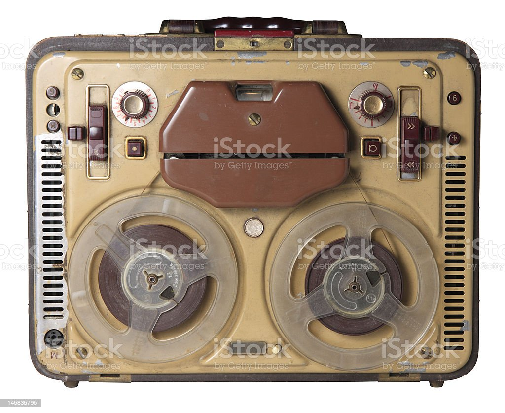 Old tape-recorder royalty-free stock photo
