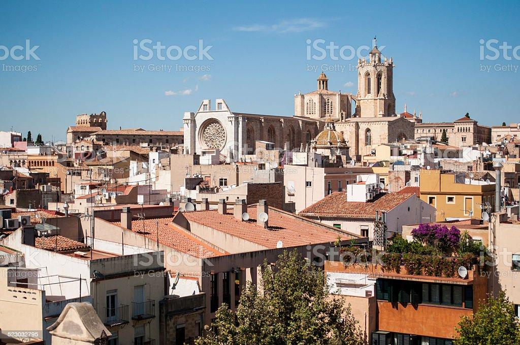 Old Tarragona city view stock photo