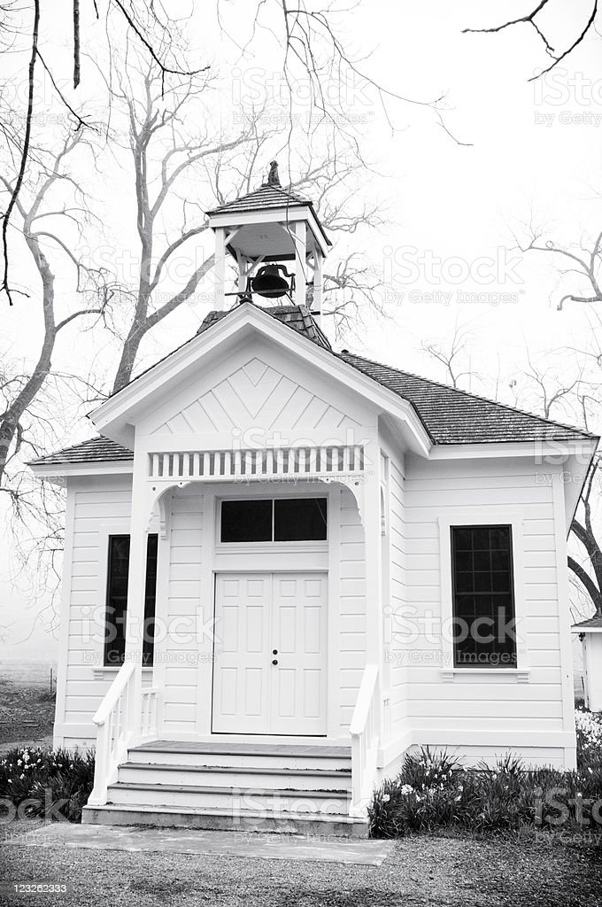 Old Tassajara School House stock photo