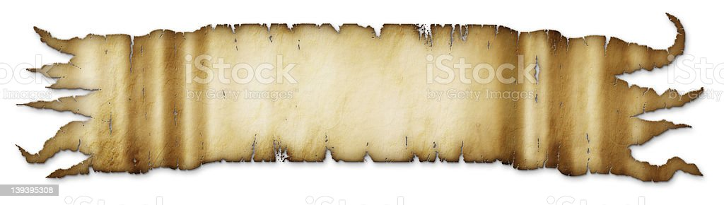 Old Tattered Golden Brown Banner royalty-free stock photo