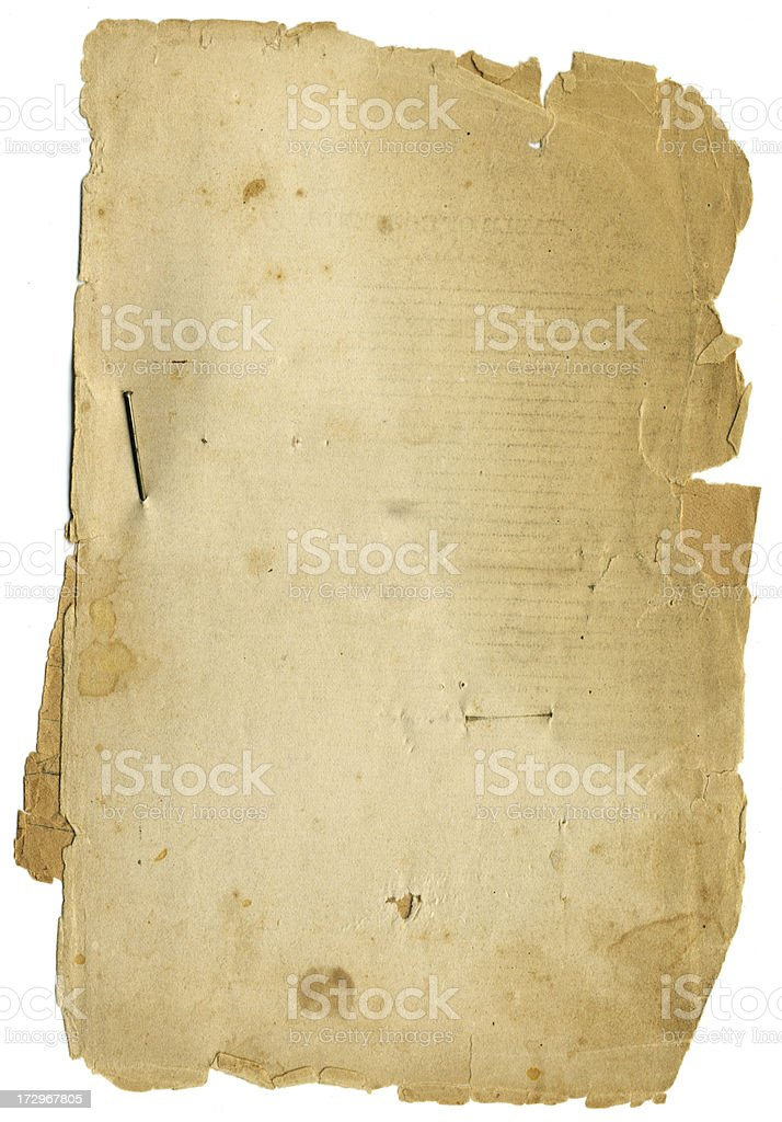 Old Tattered grunge texture Paper - XXLarge royalty-free stock photo