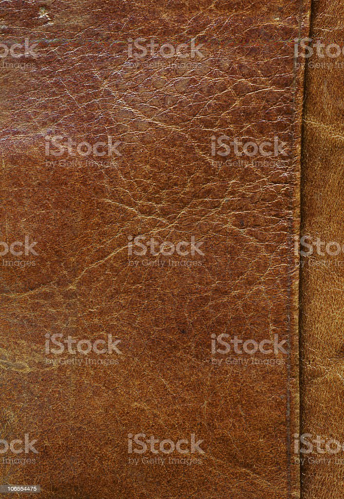 Old tattered leather. Very big royalty-free stock photo