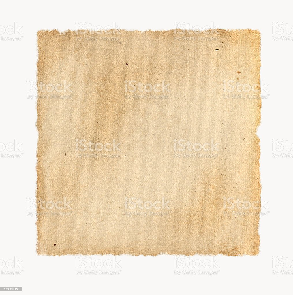 Old, Tattered Paper stock photo